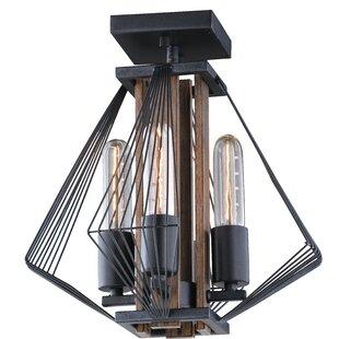Stapleton 4-Light Semi Flush Mount by Orren Ellis