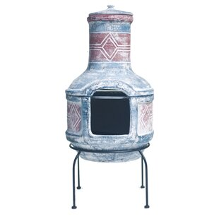 Esai Wood Burning Chimenea By World Menagerie