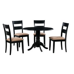 Cedarville 5 Piece Drop Leaf Solid Wood Dining Set Alcott Hill
