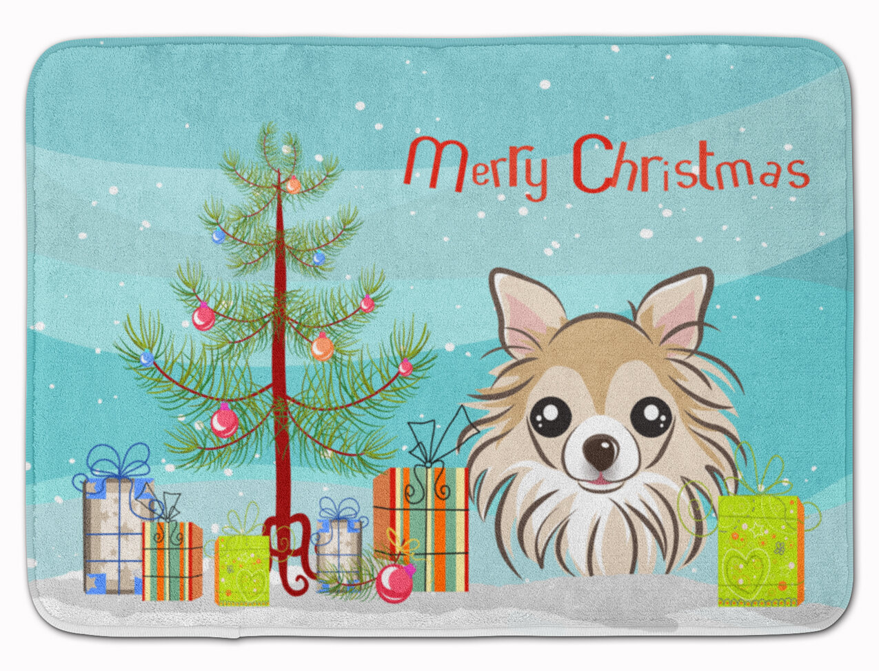 The Holiday Aisle Christmas Tree And Chihuahua Rectangle Microfiber Non Slip Bath Rug Wayfair