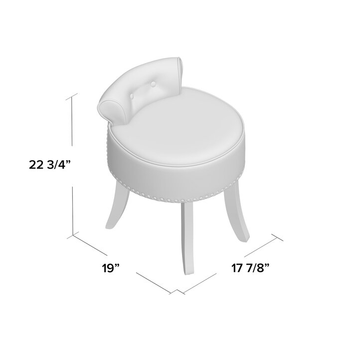Superb Emest Vanity Stool Caraccident5 Cool Chair Designs And Ideas Caraccident5Info