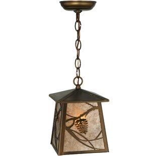 Meyda Tiffany Whispering Pines 1-Light Lantern Pendant