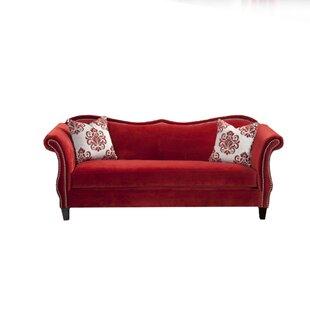 Lundell Premium Velvet Sofa by Rosdorf Park