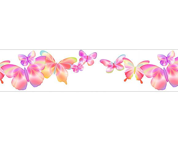 4 Walls Fluttering Free Style 12 X 6 Quot Butterflies Border