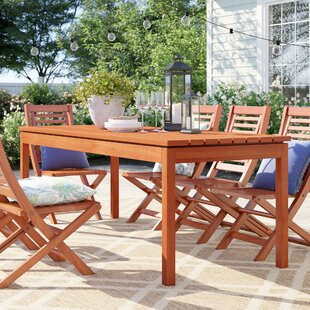 Brighton Rectangle Wood Dining Table by S..