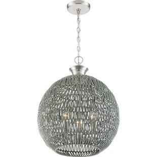 Shockey3-Light Globe Chandelier by World Menagerie