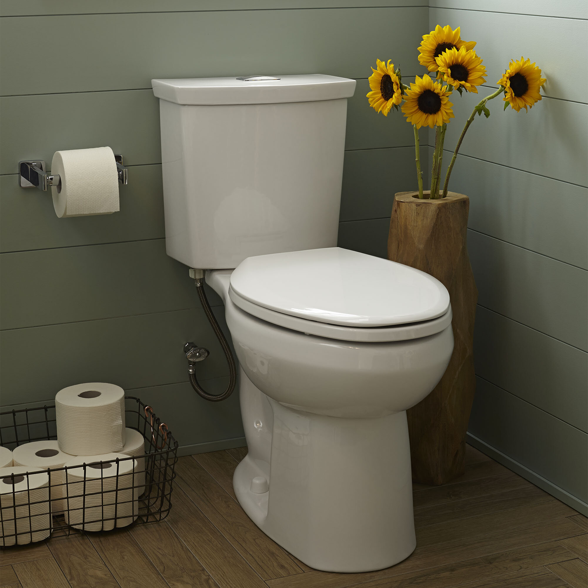 American Standard H2optimum Dual Flush Elongated Two Piece Toilet Seat Not Included Wayfair