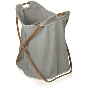 Bamboo Foldable Split Hamper Laundry with Carry Handles By Mercury Row