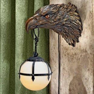Enlightening Freedom Bald Eagle Sculptural Electric 1-Light Armed Sconce (Set of 2) by Design Toscano