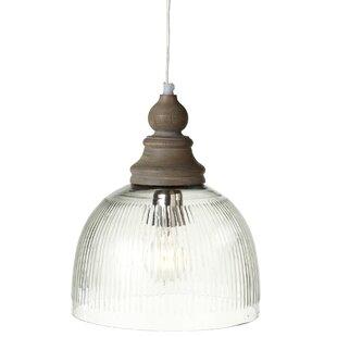 Ophelia & Co. Zoila Ribbed LED Dome Pendant