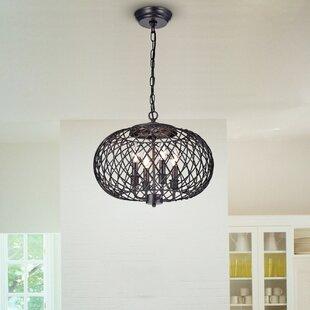 Ryne 4-Light Globe Chandelier