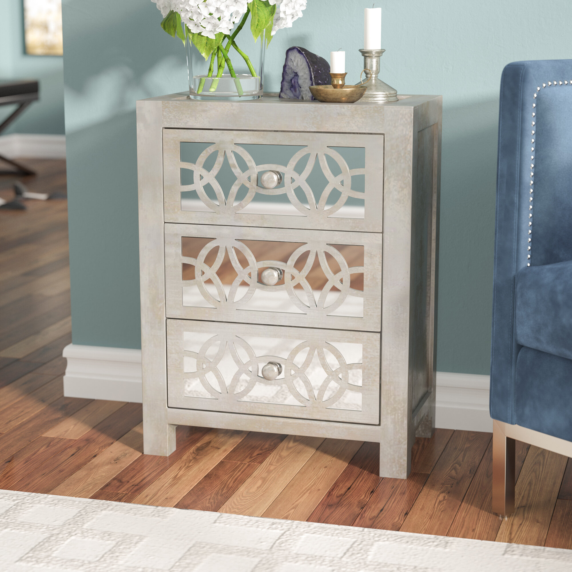 Merveilleux Willa Arlo Interiors Dimattia Mirrored 3 Drawer Accent Chest U0026 Reviews |  Wayfair