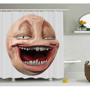 Meme Laughing Decor Single Shower Curtain