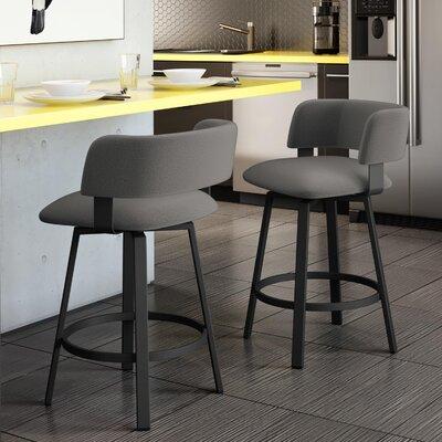 Superb Stinson 30 Swivel Bar Stool Amisco Color Textured Black Creativecarmelina Interior Chair Design Creativecarmelinacom