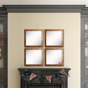 Best Price Willsey Bronze Wall Mirror (Set of 4) By Bloomsbury Market