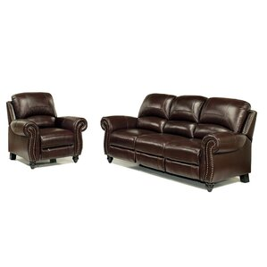 Kahle Leather 2 Piece Living Room Set by Darby Home Co