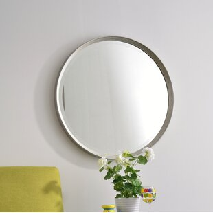 Price comparison Round Glass Wall Mirror By Bay Isle Home