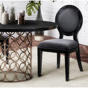 Tipton Cerused Upholstered Dining Chair by Everly Quinn Sale