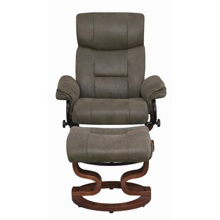 Nicosia Push-back Manual Recliner Glider with Ottoman