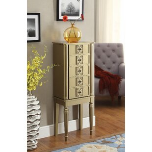 Borkowski Stylish Classy Free Standing Jewelry Armoire with Mirror by House of Hampton