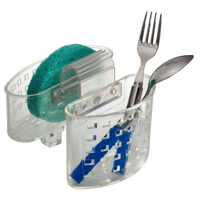 Kitchen Sink Protector Flatware Organizer and Sponge Holder