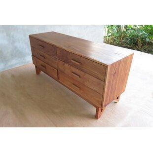 Maderas 6 Drawer Double Dresser