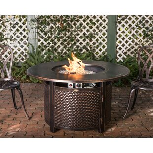 Leeward Aluminum Propane Fire Pit Table by Fire Sense Discount