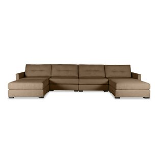Secrest Buttoned U-Shape Double Chase Modular Sectional