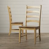 Huerfano Valley Solid Wood Dining Chair (Set of 2) by Loon Peak®
