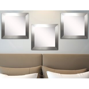 Orren Ellis Osibodu Silver Wide Wall Mirror (Set of 3)