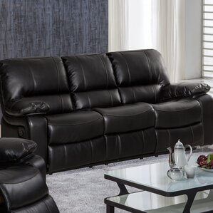 layla breathing leather reclining sofa - Sofa Leather
