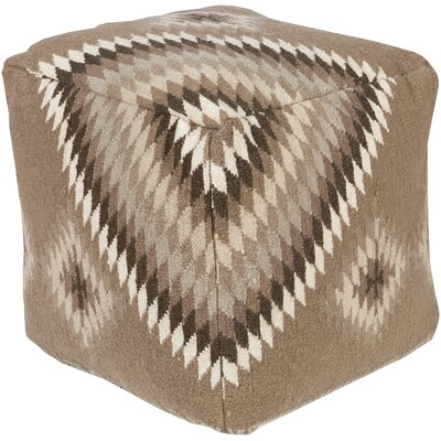 Aahana Pouf Upholstery: Dark Brown by Bungalow Rose