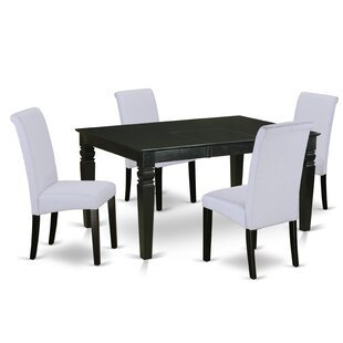 Pariaman Kitchen Table 5 Piece Extendable Solid Wood Dining Set