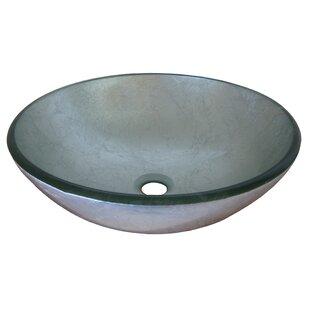 Novatto Argento Glass Circular Vessel Bathroom Sink