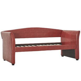 Burlington Daybed in Wine Red by Three Posts