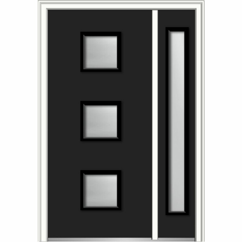 Charmant Verona Home Design Spotlight Glass Ready To Install Steel Prehung Front  Entry Doors | Wayfair