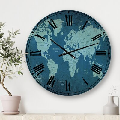 East Urban Home Oversized Farmhouse Flower I Wall Clock Fcjd4425 Size Large Shefinds