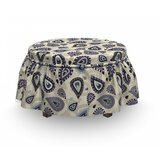 Moroccan Paisley Motif Ottoman Slipcover (Set of 2) by East Urban Home