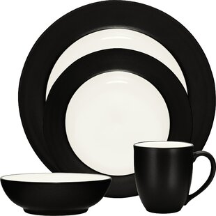 Colorwave Rim 16 Piece Dinnerware Set, Service for 4