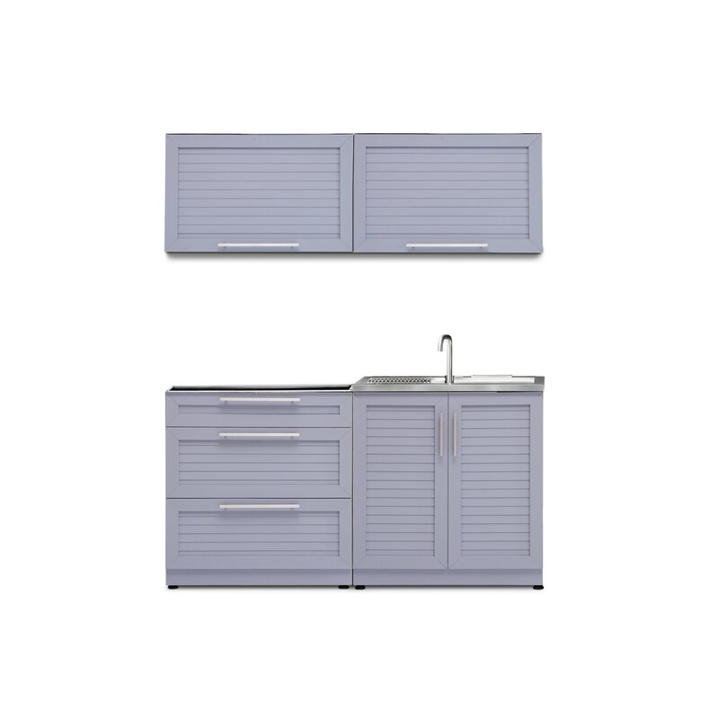 Newage Products Steel 4 Piece Modular Outdoor Kitchen Cabinets