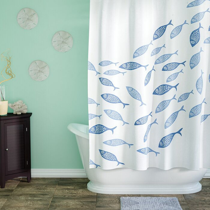 Highland Dunes Cedarville Polyester Coastal Shower Curtain