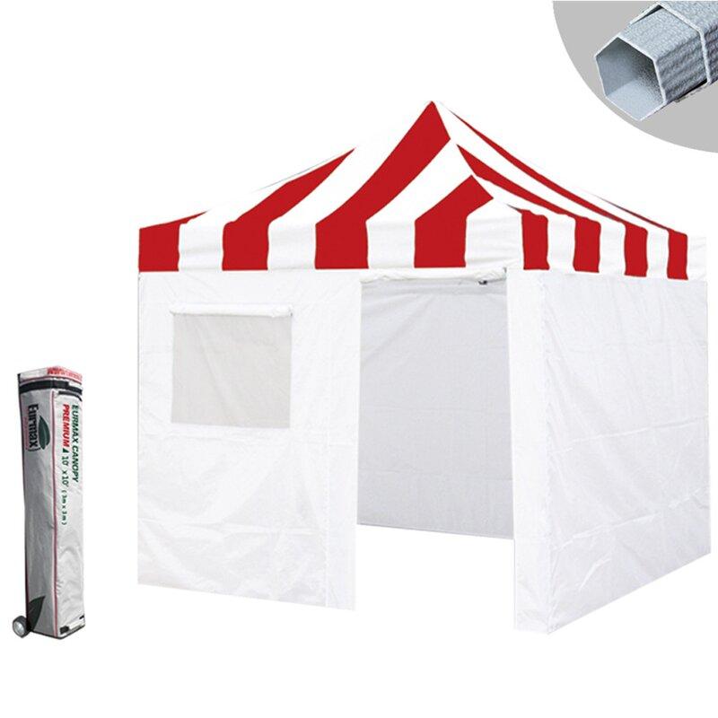 Premium 10 Ft. W x 10 Ft. D Aluminum Pop-Up Canopy with  sc 1 st  Wayfair & Eurmax Premium 10 Ft. W x 10 Ft. D Aluminum Pop-Up Canopy with ...