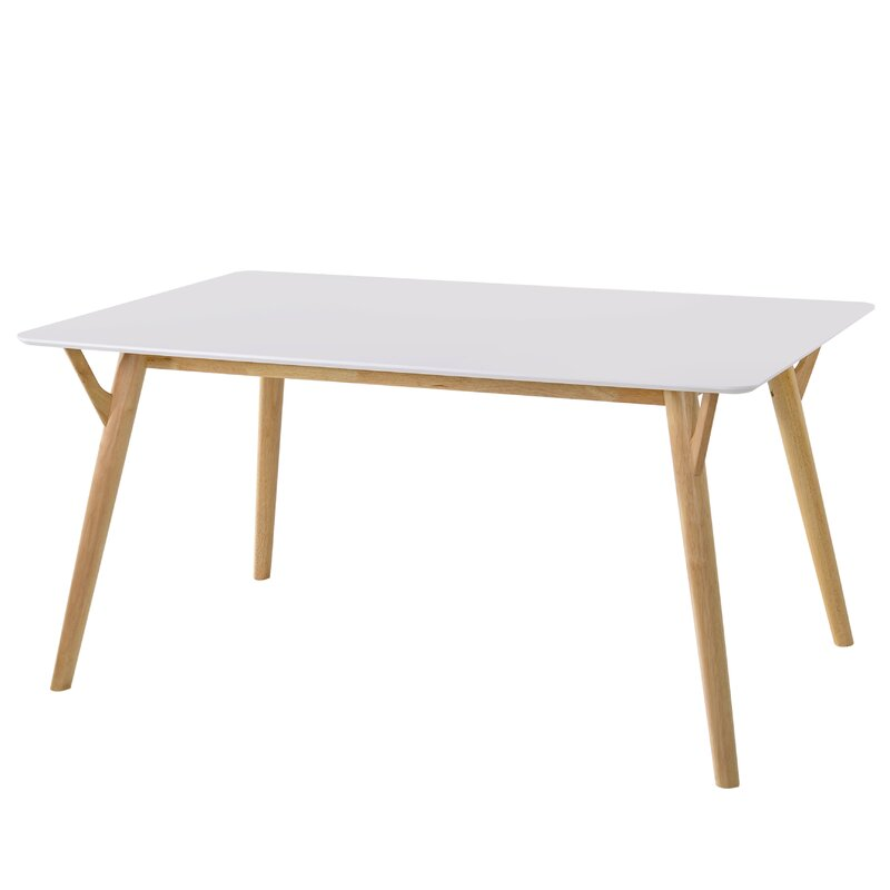 George Oliver  Boose Solid Wood Dining Table