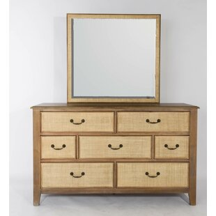 Read Reviews Linen 7 Drawer Dresser with Mirror by Panama Jack Home