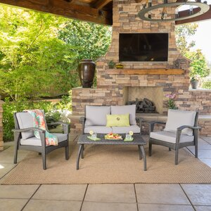 Guilford 4 Piece Deep Seating Group with Cushion