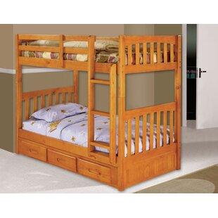 Read Reviews Elisa Twin over Twin Slat Bunk Bed ByHarriet Bee