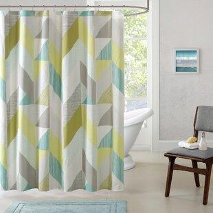 Horta Cotton Printed Shower Curtain