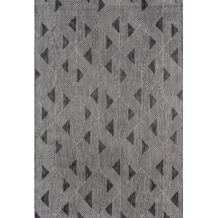 Sardinia Power Loom Charcoal Indoor/Outdoor Area Rug