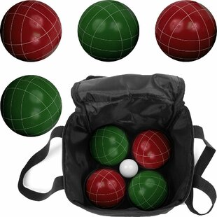 Hey! Play! Full Size 10 Piece Premium Bocce Game Set