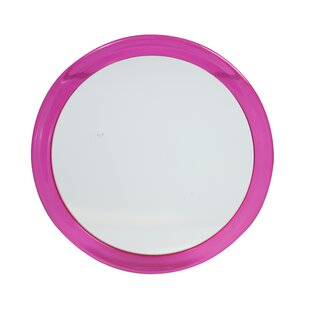 Inexpensive Pink Suction Bathroom/Vanity Mirror By Danielle Creations